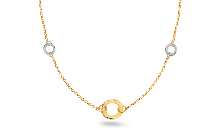 Combined gold necklace - IZ10088N