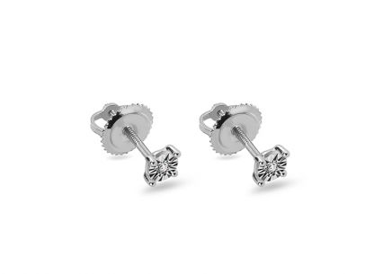 Diamond earrings made of white gold 0.030 ct