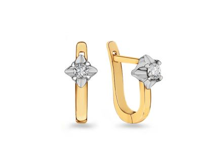 Gold earrings Always with diamonds 0.180 ct