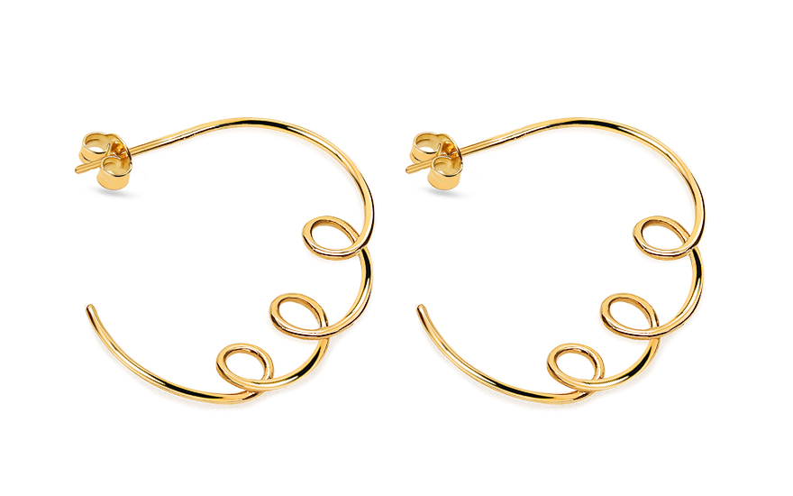 Earrings from the collection Heratis Wire Art - IZ18471
