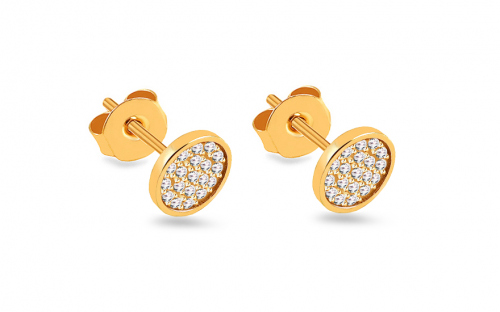 Earrings with zircons - IZ18439