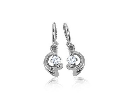 Children's Gold Cubic Zirconia Earrings