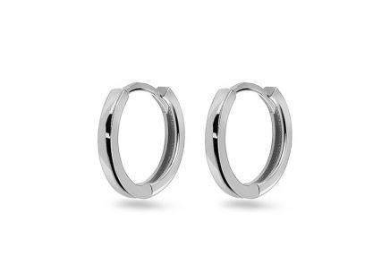 Children's white gold hoop earrings smooth
