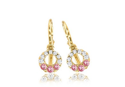 Christening Gold Cubic Zirconia Earrings