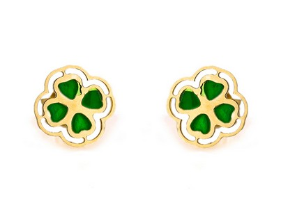 "Girl's Gold Earrings ""Flower"""