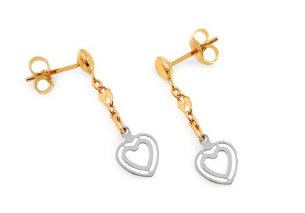 Girl's Gold Heart Earrings