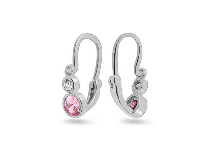 Newborn Earrings with Zircon
