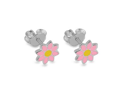 Silver Girls stud earrings Marguerite