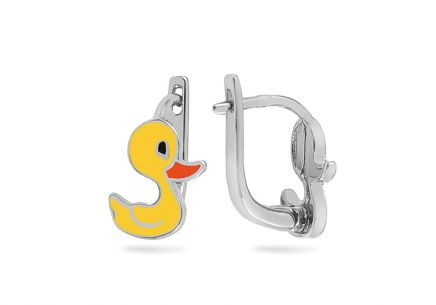 Silver Ducks girls earrings
