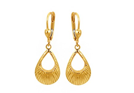 Gold Engraved Earrings