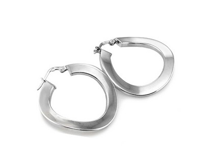 Attractive Sterling Silver Hoop Earrings