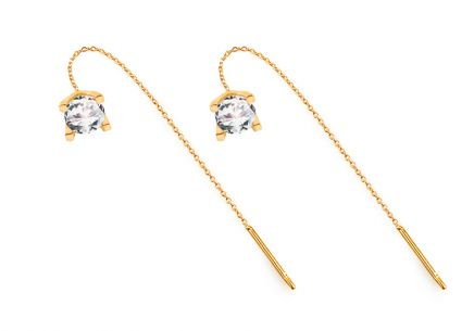 Earrings with zircons
