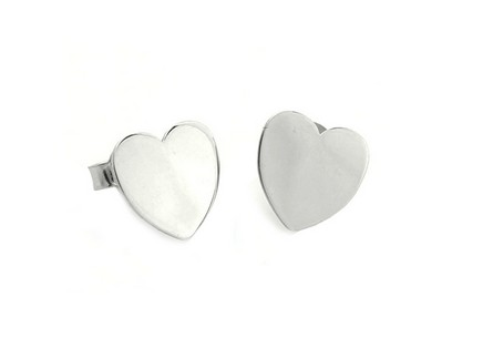 Hearts Sterling Silver Earrings