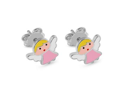Silver girl´s earrings Angels