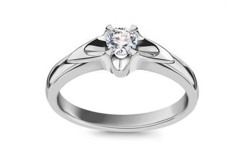 Engagement Ring with 0,160 ct Diamond Always middle