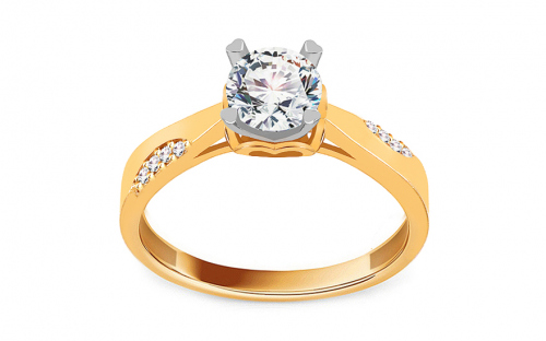 Engagement ring with cubic zirconia - IZ18912