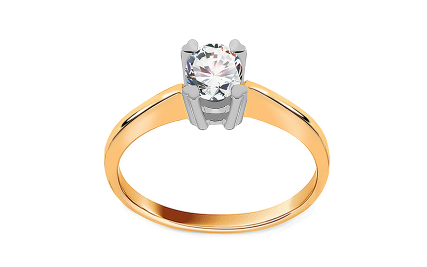 Engagement ring with cubic zirconia - IZ19204