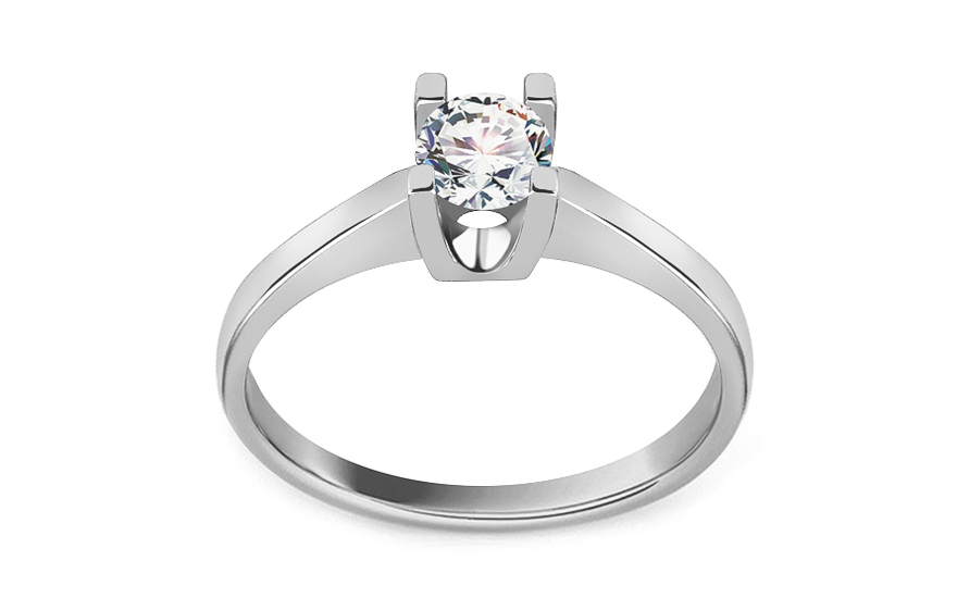 Engagement ring with cubic zirconia - IZ19372A