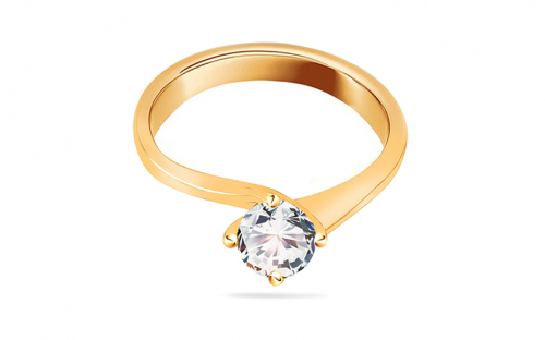 Engagement ring with cubic zirconia - IZ19309