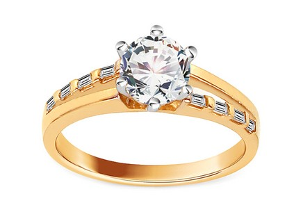 Gold Engagement Ring Isarel 18
