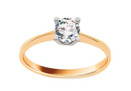 Gold Engagement Ring Princess 12