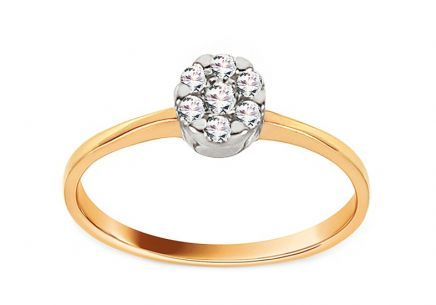 Gold Engagement Ring Princess 13