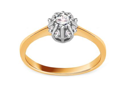 Gold Engagement Ring Princess 14