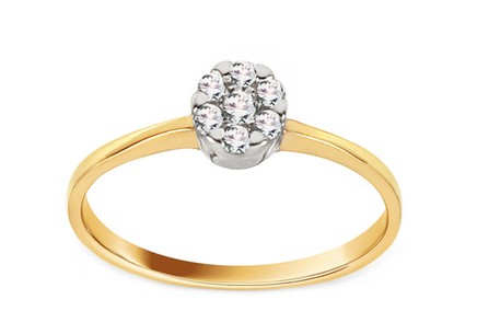 Gold Engagement Ring Princess 16