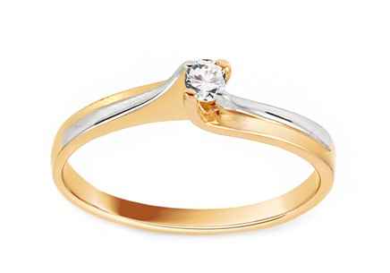 Gold Engagement Ring Princess 7