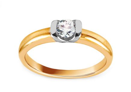 Gold Engagement Ring with Zircon Addie