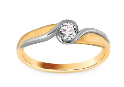 Gold Engagement Ring with Zircon Elise 6