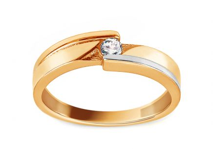 Gold Engagement Ring with Zircon Fantina 2