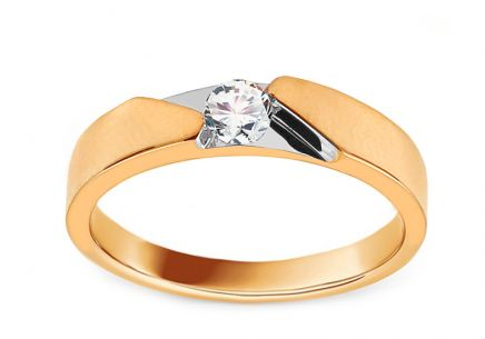 Gold Engagement Ring with Zircon Tawny
