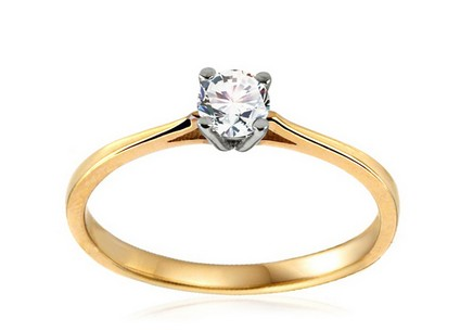 Gold Engagement Ring with Zircon Verdiana