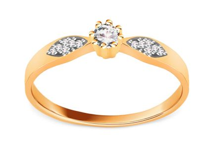 Gold Engagement Ring Princess 11
