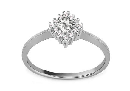 White Gold Engagement Ring Diane 4