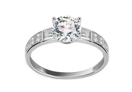 White Gold Engagement Ring Elise 2