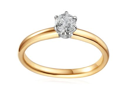 Combined Gold Engagement Ring with Diamond 0.520 ct Caissa