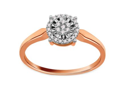 Diamond Engagement Ring 0,110 ct Destry Rose