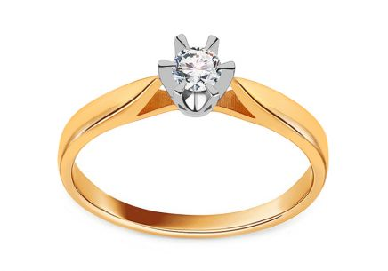 Diamond Engagement Ring from Combined Gold 0.150 ct