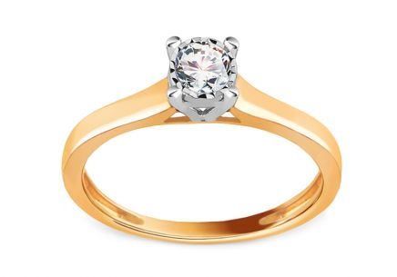 Diamond Engagement Ring from Combined Gold 0.210 ct