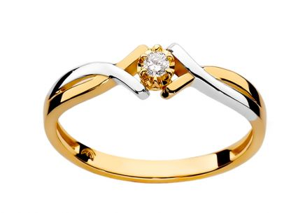 Diamond two-tone engagement ring 0.040 ct Lisabet