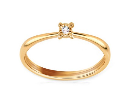 Engagement Ring with 0,005 ct Brilliant Jasmin