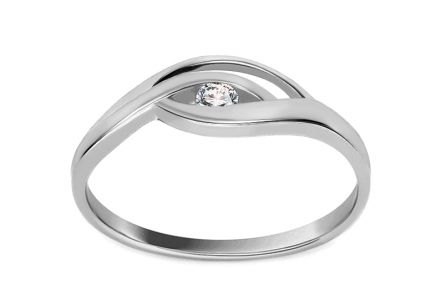 Engagement Ring with 0.050 ct Diamond Sophie white