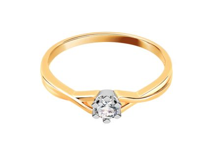 Engagement Ring with 0,060 ct Brilliant Amazing love