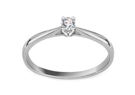 Engagement Ring with 0.080 ct Diamond Estelle young white