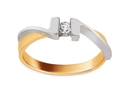 Engagement Ring with 0,080 ct  Diamond Our Love
