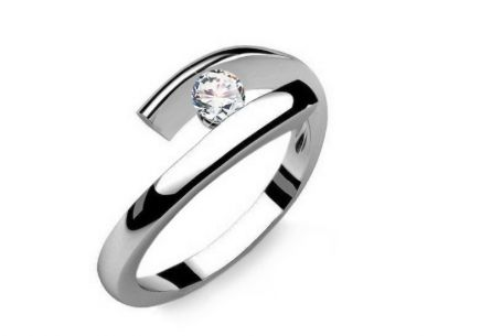 Engagement Ring with 0,090 ct Diamond Lines Of Love 3