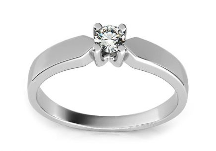 Engagement Ring with 0,100 ct Diamond Promise 3