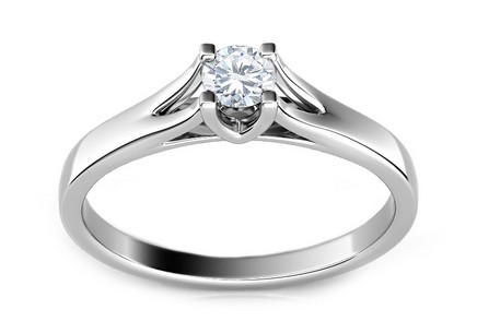 Engagement Ring with 0,100 ct Diamond Promise 5 white